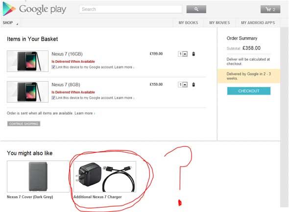 Buy a Google Nexus 7 Tablet in the UK