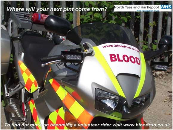 North Tees and Hartlepoon NHS Blood Bikes